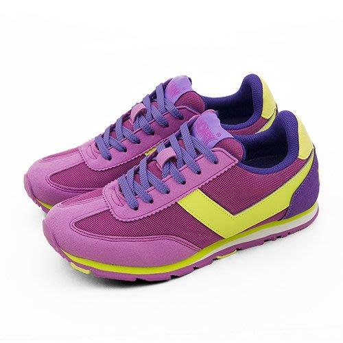 利卡夢鞋園–PONY 繽紛韓風慢跑鞋 --SOHO 冰淇淋系列--桃紫黃--44W1SO68PR--女