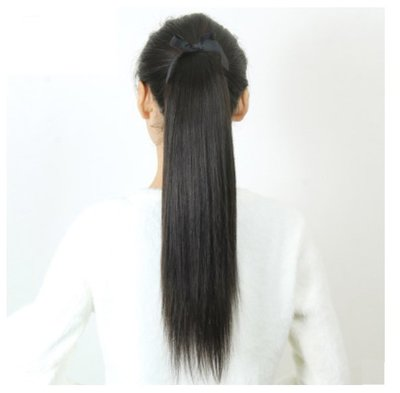 馬尾假髮 長直髮 假馬尾 真人髮-口袋型設計 綁帶 雙子母扣鎖 牢固 逼真(40g) 【不然飾】TAO