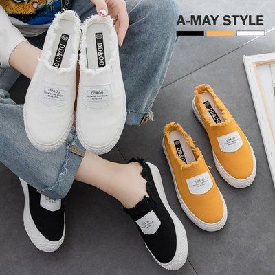 休閒鞋-不修邊字母懶人帆布穆勒鞋【XDO612334】