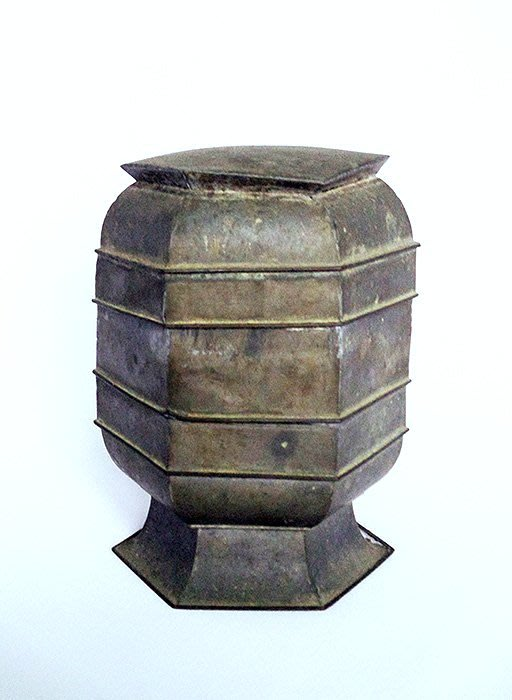 老粉盒老錫盒收納盒置物盒珠寶盒首飾盒錫器台灣民藝楊【心生活美學】
