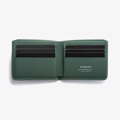 [SIMNA BIKE] PIONEER DIVISION BILLFOLD 防水極簡皮夾/錢包 - 長青綠