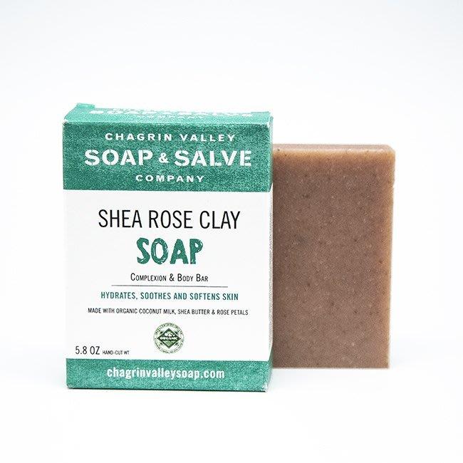 美國Chagrin Valley 印度天竺葵玫瑰高嶺土植物皂 Shea Rose Clay 手工皂 5.8 OZ
