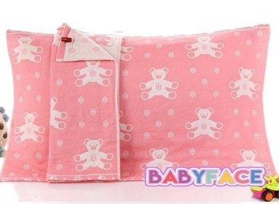 BabyFace【三層紗】貝納熊款紗布料枕巾枕頭巾柔軟透氣花色漂亮可挑 自用送禮可批發(50*75cm)