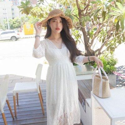 【ZEU'S】海灘度假婚禮蕾絲甜美長洋裝+背心『 06219911 』【現+預】FA