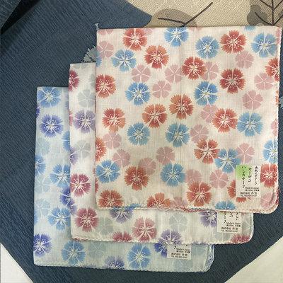 【e2life】日本製 純棉 雙層 麻紗 手帕 方巾 領巾 頭巾 口水巾 - 櫻花