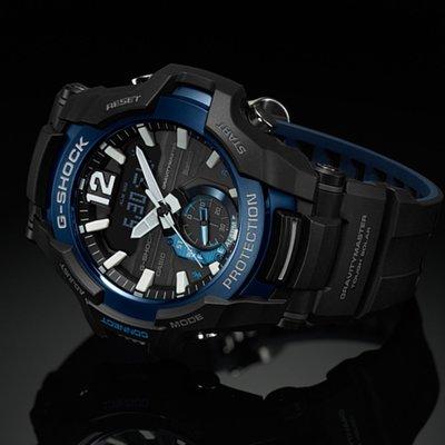CASIO G-SHOCK GRAVITYMASTER series GR-B100 GR-B100-1A2 黑藍 BLUETOOTH 藍牙連線