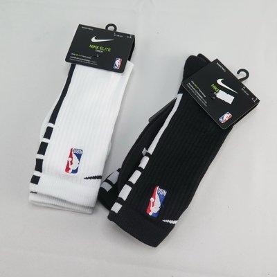 NIKE  ELITE CREW - NBA 籃球長襪 一雙入 SX7587- 黑 / 白【iSport愛運動】