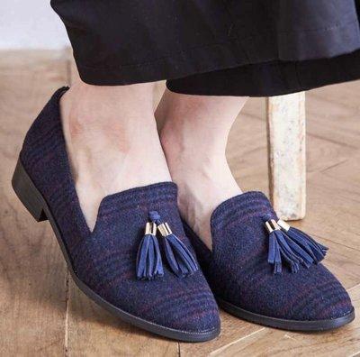 Oriental traffic 格紋 牛津鞋 41-42 大腳適穿