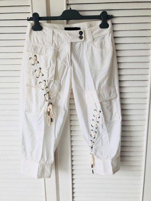 法國🇫🇷帶回 白色純棉交叉帶造型五分褲