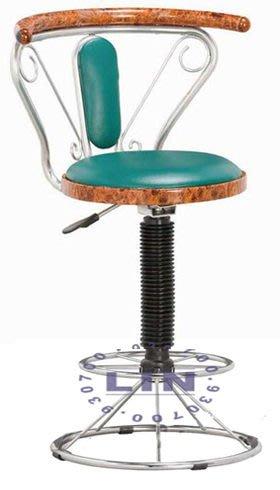【品特優家具倉儲】A977-25吧台椅洽談椅新核桃木吧台椅-低
