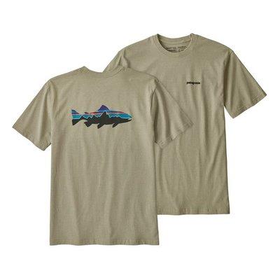 【Shopa】現貨 Patagonia Fitz Roy Trout 鮭魚 前後 Logo 短TEE T恤 4色