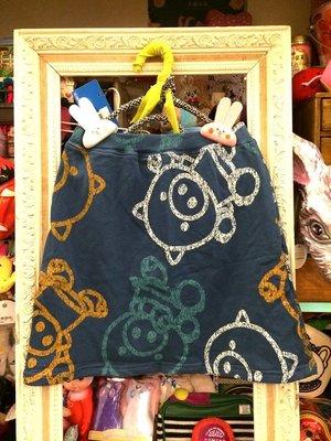++特價++新品入荷 日本drug store's品牌 層層疊混搭超級無可愛的小豬滿版印花棉製裙
