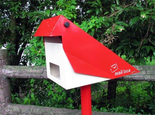 ☆成志金屬☆當季新品」設計款不鏽鋼信箱-棲鳥,玲瓏有緻,寫意大方,極具生活感之悠然意像