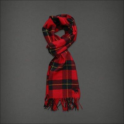 A&F 條紋保暖寬版流蘇圍巾披肩 全新 現貨