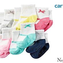♡NaNa Baby♡ 美國Carters 防滑嬰兒襪六雙組 - 瑪麗珍蝴蝶結系列 #GB12797