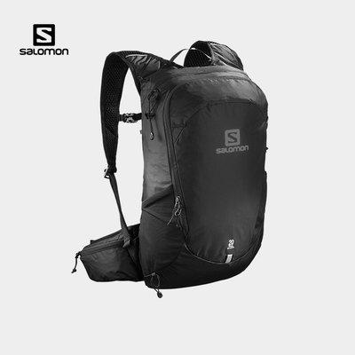 溜溜Salomon薩洛蒙雙肩包男女款戶外休閑旅行徒步背包TRAILBLAZER 20