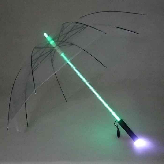 創意中棒髮光雨傘 LED照明燈光傘 黑夜信號傘 舞台道具傘晴雨兩用