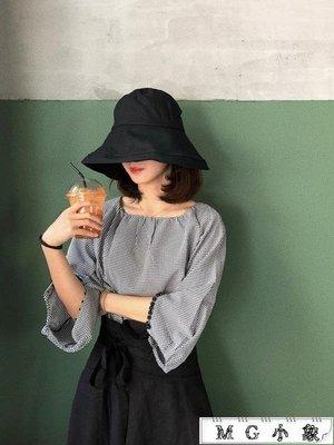 漁夫帽女夏天韓版遮陽帽沿盆帽
