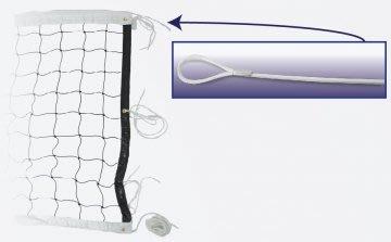 【綠色大地】CONTI 強化鋼繩排球網 A2052 比賽 訓練 45合 排球網 排球 足球 MOLTEN XONNES