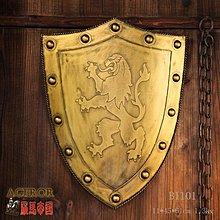 歐式盾牌複古盾牌影視表演道具盾牌中世紀裝飾工藝盾牌(兩色可選)