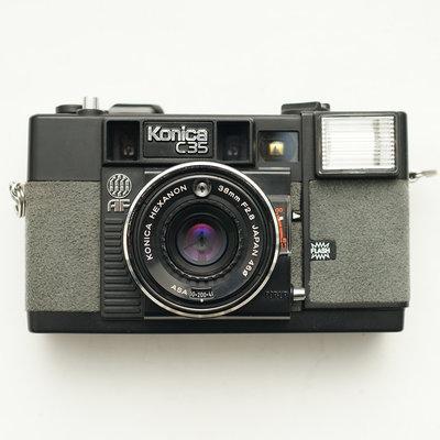 [黑水相機] Konica C35 AF 38mm F2.8 灰色麂皮版