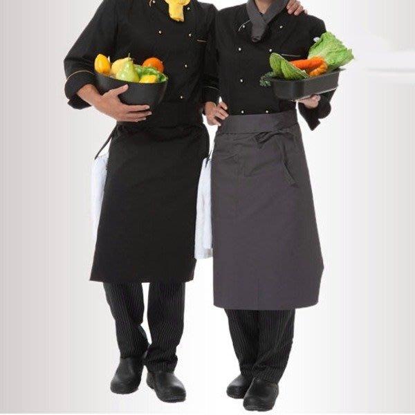 5Cgo【鴿樓】含稅會員有優惠12549268163 廚師圍裙圍腰餐廳咖啡店廚房做飯服務員工作圍裙男女半身圍裙營業用商用