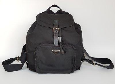 PRADA  三角鐵牌  LOGO  磁扣式  後背包  經典款      , 超級特價便宜賣   保證真品