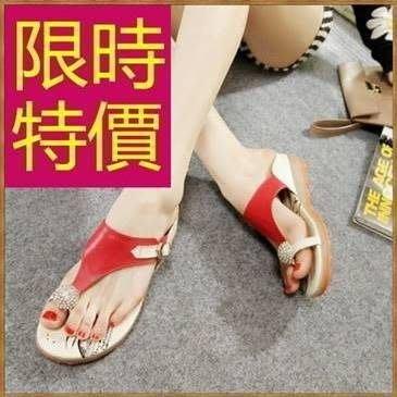涼鞋平底華麗-新款透氣夏季休閒女拖鞋子3色54l51[獨家進口][巴黎精品]