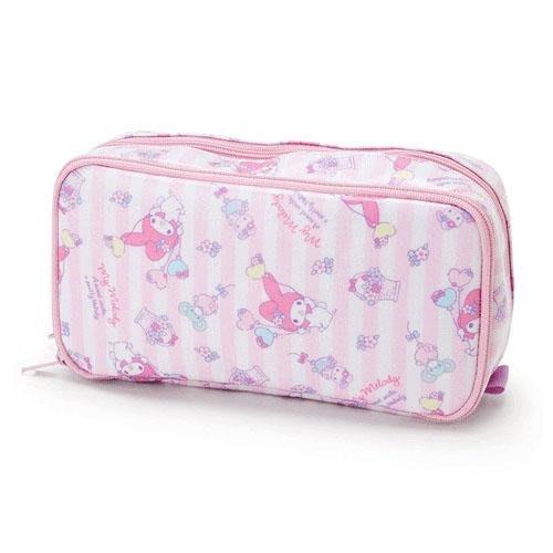 Melody美樂蒂防水化妝包 筆袋 鉛筆盒 愛心氣球款 日本三麗鷗正版~彤小皮的遊go世界