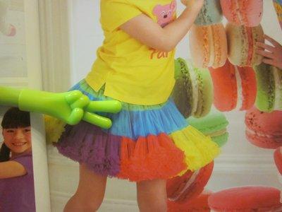 全新童裝出清--☆WHY AND 1/2 ☆彩虹澎裙--11號
