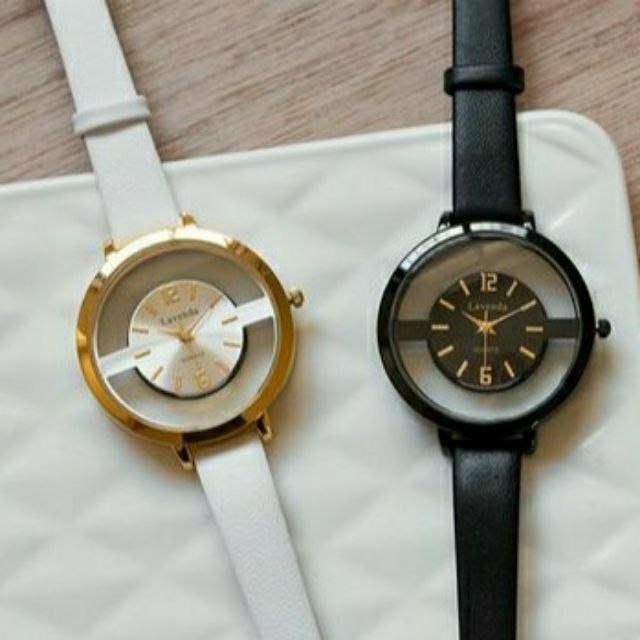 【Alice秘密衣櫥】韓國連線 全新 現貨 Lavenda 鏤空 白色 女錶