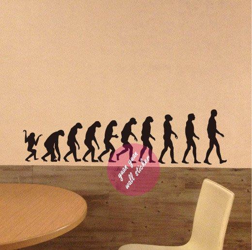 【源遠】人類進化過程壁貼【P-03】(M)壁紙 裝潢 室內設計 民宿 車身貼紙 創意 大型 玻璃