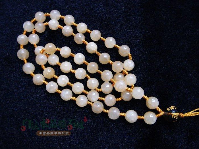 白法水晶礦石城 非洲 蜜糖黃玉 8mm 色彩艷麗 礦質色澤 金剛結 項鍊 飾材料