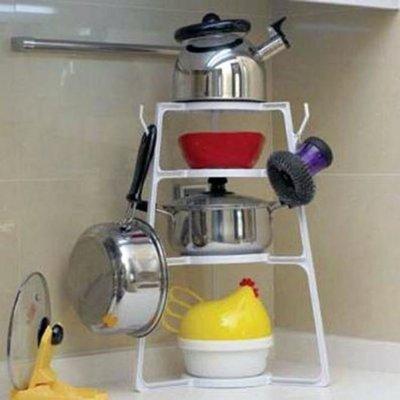 廚房多功能鍋架多用途組合層架簡易廚具收...