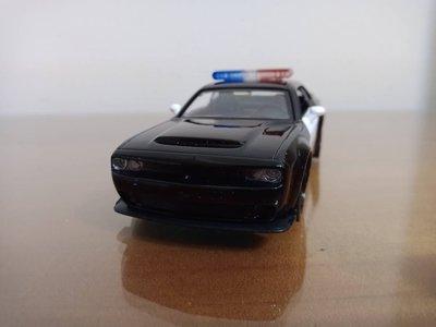全新盒裝1:36~道奇 DODGE 挑戰者 警車  黑色 合金汽車模型