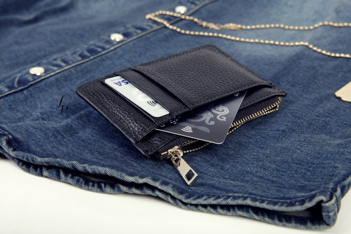 。SW。【K81122】正韓 韓國製  荔枝紋真皮 淡金拉鍊 實心拉鏈頭 質感精品 信用卡/悠遊卡/名片夾 零錢包 專櫃