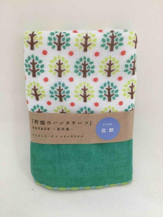 日本製 彩色小樹手帕