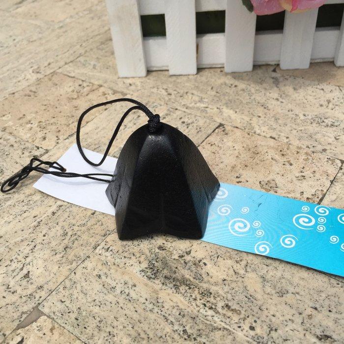 日式南部鑄鐵風鈴日本金屬掛飾音色悠揚出 純黑龍膽花