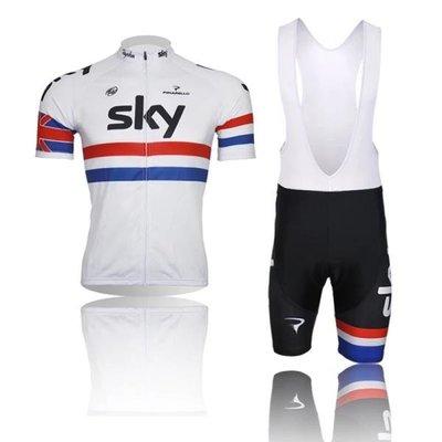 lcl 天之隊白色公路山地自行單車隊版短袖騎行服套裝單車服男女款