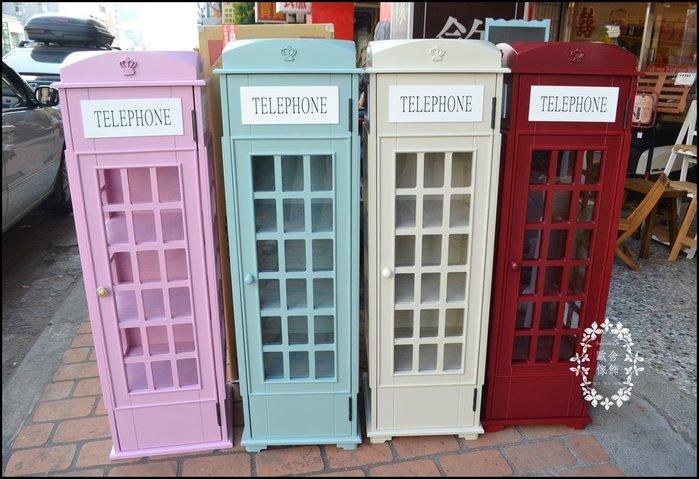木製五層紅色白色綠色電話亭收納櫃 共4色 英倫風玻璃展示櫃杯子公仔收藏品DVDCD架小書架波蘭陶造型櫥櫃【歐舍家飾】