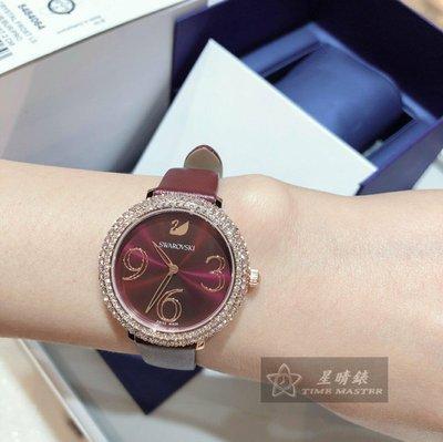 2019年最新款,酒紅色牛皮錶帶💎施華洛世奇 石英女表 34mm 🇨🇭瑞士製造 瑞士機芯🇨🇭專櫃聯保。售價13500元,私訊更優惠