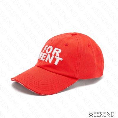 【WEEKEND】 VETEMENTS For Rent 刺繡 帽子 棒球帽 鴨舌帽 紅色 20春夏