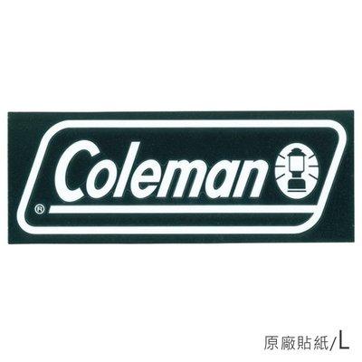 【露營趣】Coleman CM-10523 原廠貼紙/L 汽車貼紙 抗UV 防退色