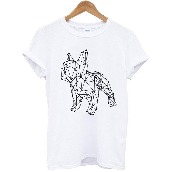 French Bulldog simple 男女短袖T恤 6色 巴哥哈巴狗法鬥狗貓禮物動物t 亞版