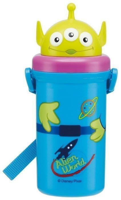 東京家族 日本 Disney迪士尼 立體三眼怪 彈跳吸管水壺附背帶