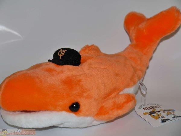 貳拾肆棒球-日本帶回.日職棒巨人小笠原道大特別企畫鯨魚手型娃娃