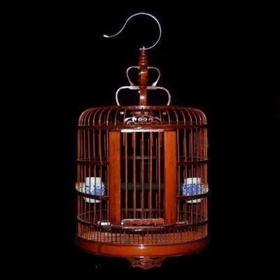 哆啦本鋪 鳥籠子畫眉竹鳥籠復古老料竹鳥籠鷯哥鳥籠竹制鳥籠大號八哥鳥籠D655