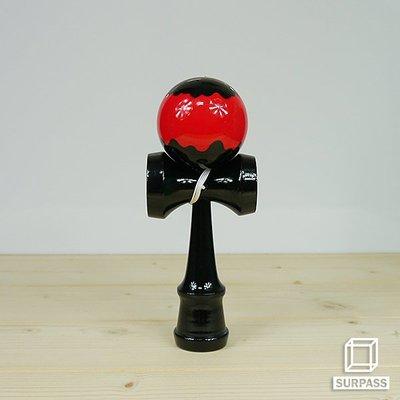 『Surpass』木質劍玉劍球 Ripple 波紋系列 Black x Red