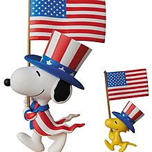 日本 代購 MEDICOM TOY SNOOPY 史努比 U.S.A. UDF 公仔 模型 玩具 NO.320