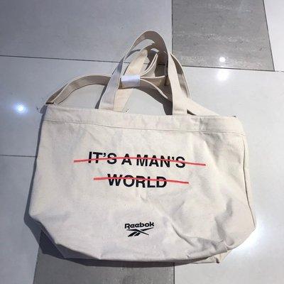 現貨 iShoes正品 Reebok It's not man world 手提袋 購物袋 帆布 男女款 FM4859 新北市
